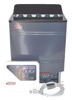 TURKU 9KW 240V WET or DRY ELECTRIC SAUNA HEATER STOVE EXTERNAL CONTROLLER +BONUS