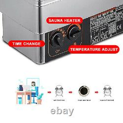 US 2/3/6/9KW Wet&Dry Sauna Heater Stove Commercial Home SPA Internal Controller