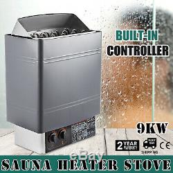 US 9KW Electric Sauna Spa Heater Stove Wet Dry Stainless Steel Internal Control