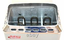 Used Compact 2kw 120v Wet & Dry Turku Sauna Heater Stove Built-in Controller