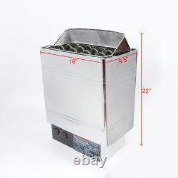 VIC Sauna Heater Stove 6KW 8KW 9KW Wet & Dry Stainless Steel Bult-in Controller