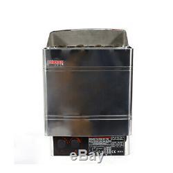 220 V Classique 6kw Saunas Chauffage À Sec En Acier Inoxydable Poêle À Commande Externe
