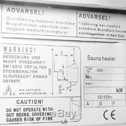 220v-380v 3k-9kw Sauna Chauffage Poêle Humide À Sec En Acier Inoxydable Contrôle Externe