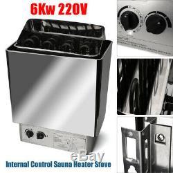 220v-380v 6kw Poêle De Chauffage Pour Sauna Contrôle Externe Et Humide En Acier Inoxydable Us