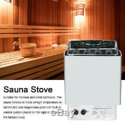 230-240v 4.5kw Contrôle Externe En Acier Inoxydable Humide Et Sec De Poêle De Chauffage De Sauna