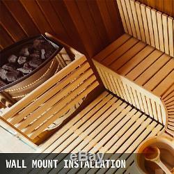2kw Électrique Wet & Dry En Acier Inoxydable Sauna Chauffage Poêle De Contrôle Interne # 5lzd