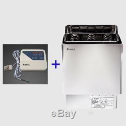 3 / 4,5 / 6/8 / 9kw Sauna Chauffage Poêle Wet & Dry Interne Et Externe Contrôleur Numérique