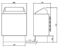 3/4/6/8 / Cotes 9kw Amazon Sauna Heater Poêle Pour Le Bain Home Sauna Salle D'eau Spa