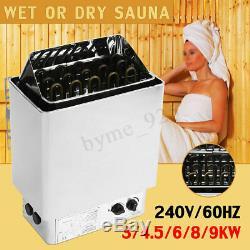 3-9kw 240v Sauna Chauffage Poêle À Sec Ou Humide En Acier Inoxydable Contrôle Interne Spa Us