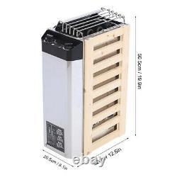 3kw Contrôle Interne En Acier Inoxydable Sauna Poele Chauffage Outil De Ménage