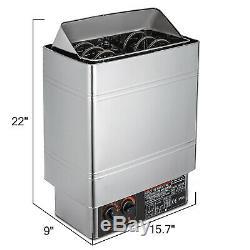 3kw Vapeur Sèche Sauna Bain Poele Avec Mur Contrôleur Interne Monté