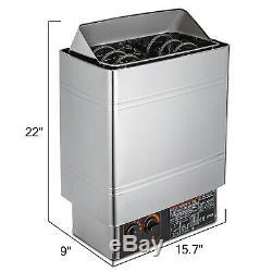 3kw Wet & Dry Sauna Chauffage Cuisinière Contrôle Interne Anti-rouille Température 12