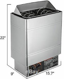3kw Wet & Sauna Sec Chauffage Poêle Contrôle Interne / Externe Accueil Commercial Vapeur