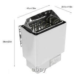 4.5kw 220v Salle De Bains En Acier Inoxydable Chauffage Sauna Steam Engine Stove Heater Wit