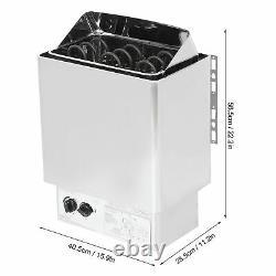 4.5kwith9.5kw Sauna En Acier Inoxydable Chauffe-poêle 220-380v Sauna Bain Douche Spa