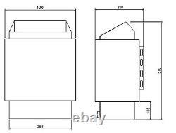 4/6/8/9kw Amazon Sauna Heater Stockage Pour Home Dry Sauna Chambre Bath Shower Spa