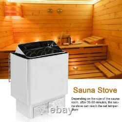 6 / 9kw Sauna Chauffage Poêle À Sec Ou Humide En Acier Inoxydable Contrôle Externe Spa Intérieur
