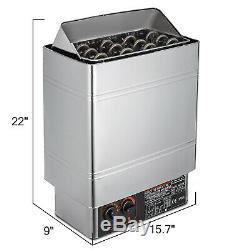 6kw 220 V Sauna Chauffage Poêle À Sec Ou Humide En Acier Inoxydable Contrôle Interne Spa