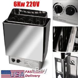 6kw 220v Contrôle Interne Poêle Électrique Inoxydable Chauffant Sauna En Acier Inoxydable