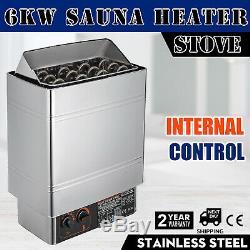 6kw 220v Électrique Wet & Sauna Sec En Acier Inoxydable Chauffe-poêle Contrôle Interne