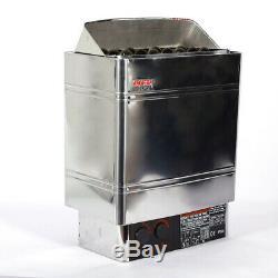 6kw 220v Matériau En Acier Inoxydable De Chauffage Sauna Poêle 14kg 27a Poêle De Chauffage
