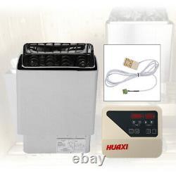 6kw Ac 220v 3 Personne Wet&dry Sauna Heater Stove Spa Contrôleur Numérique Externe