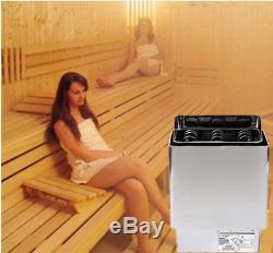6kw Acier Inoxydable Poêle Poêle Chauffage Sauna & 220v Sec Avec Contrôleur Pour Spa