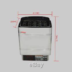 6kw Poêle Contrôle Électrique 220vtop De Poêle De Sauna En Acier Inoxydable Humide Et Sec
