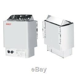 9kw 220v Électrique Wet & Dry En Acier Inoxydable Sauna Chauffage Poêle Contrôle Interne