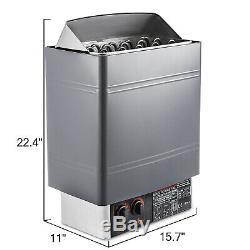 9kw Alliage D'alluminium De Contrôle Interne De Poêle De Chauffage De Sauna Humide Et Sec Facile Installent