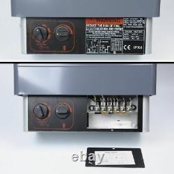 As Sauna Heater Stove Wet / Dry Spa 6kw Panneau En Aluminium De Contrôle Interne