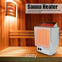 Chauffe-poêle Sauna 6kw Avec Contrôleur D'affichage Numérique Knob Pour La Salle De Cuisson À La Vapeur