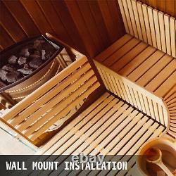 Chauffe-sauna Électrique Poêle Sèche Sauna Poêle En Acier Inoxydable 2kw Contrôle Interne