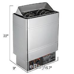 Cuisinière Sèche D'appareil De Chauffage De Sauna De Bain De Vapeur 3kw Avec Le Contrôleur Interne Fixé Au Mur