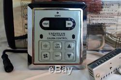 Électrique Sauna Chauffe Poele 240v 6kw 300 Cuft Double Rock Capacité Slim Control
