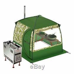 Mobiba Portable Mobile Spa-sauna Avec 2 Fenêtres + Poêle À Bois-mediana