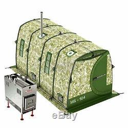 Mobiba Portable Mobile Spa-sauna Mb-104 (4-8 Pers.) + Poêle À Bois Poêle Mediana