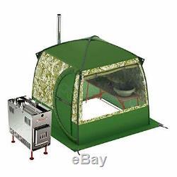 Mobiba Sauna Portable Mobile Spa Avec 1 Fenêtre + Bois Chauffe-poêle Mediana
