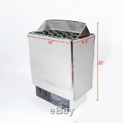 Poêle De Chauffage De Sauna Nzl 6kw 8kw 9kw Contrôleur Bult-in En Acier Inoxydable Humide Et Sec