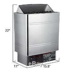 Poêle De Chauffage Pour Sauna, 9kw 220v, Acier Inoxydable Avec Contrôleur Pour Spa