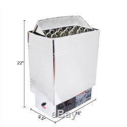 Poêle De Chauffage Pour Sauna Pas 6kw 8kw 9kw Contrôleur Bult-in En Acier Inoxydable Humide Et Sec