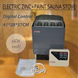 Réchaud Commercial 220-240v 9kw Pour Poêle De Sauna Avec Contrôleur Externe Numérique