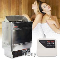Réchaud Électrique De Chauffage Pour Sauna Sec En Acier Inoxydable 220v 6000w Adapté 5-9m³ USA