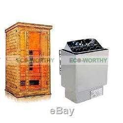 Réchauffeur De Poêle Spa Pour Sauna Électrique 6kw 110v & 220v / 380v + Contrôleur Numérique Externe