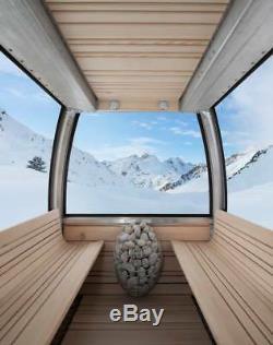 Réchauffeur De Sauna Électrique + Contrôle, Cuisinière Design À Vapeur Pour La Vapeur D'eau Huum Goutte 4,5-9 Kw
