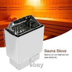 Sauna Chauffage Poêle Sauna Rocks Contrôle Interne En Acier Inoxydable Accueil Spa 4.5kw