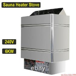 Sauna Heater Stove 6kw 240v Dry Steam Bath Commercial Home Contrôleur Interne