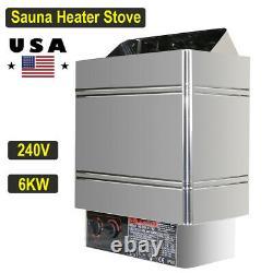 Sauna Heater Stove 6kw 240v Dry Steam Bath Home Spa Hotel + Contrôleur Interne