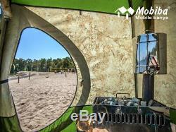 Tente De Sauna Mobile Double Couche Toutes Saisons Mb-332 + Poêle À Bois Chauffant Mediana