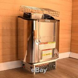 Toule 4.5 Kw Poele Humide Etl Sec Pour Spa Sauna Avec Contrôleur Mur